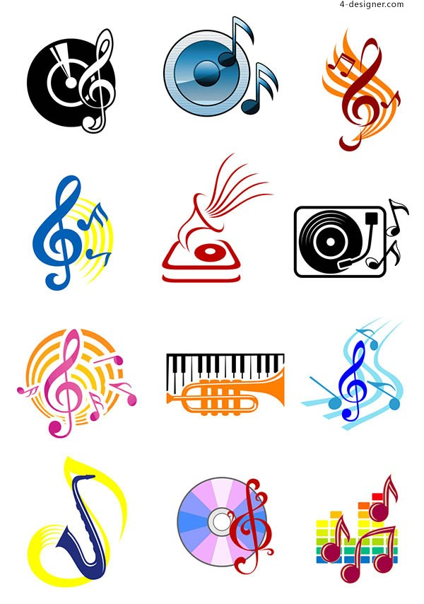 Musical instrument icon vector