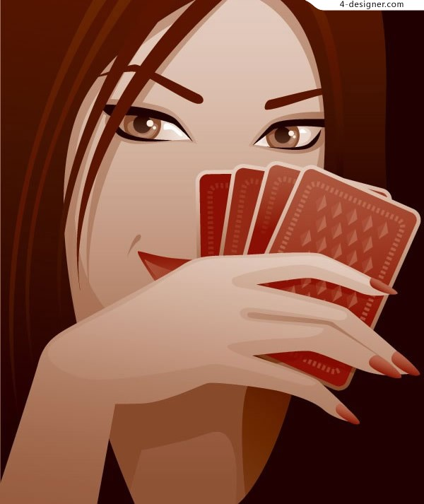 Playing cards and women