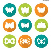 Round Butterfly Icon