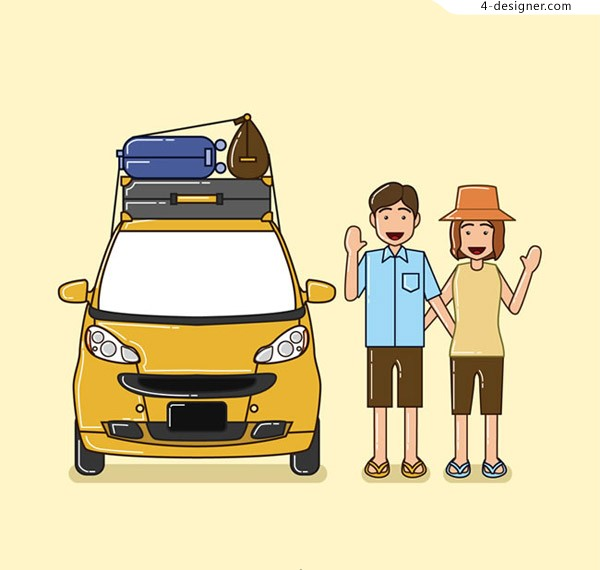 Self driving couple vector