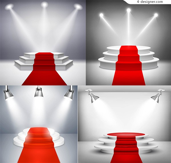 Stage red carpet vector