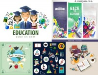 Students and learning supplies