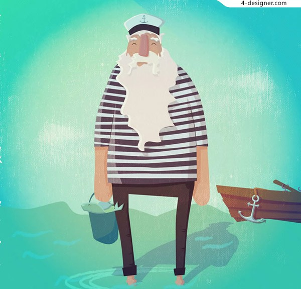 The old sailor by the sea