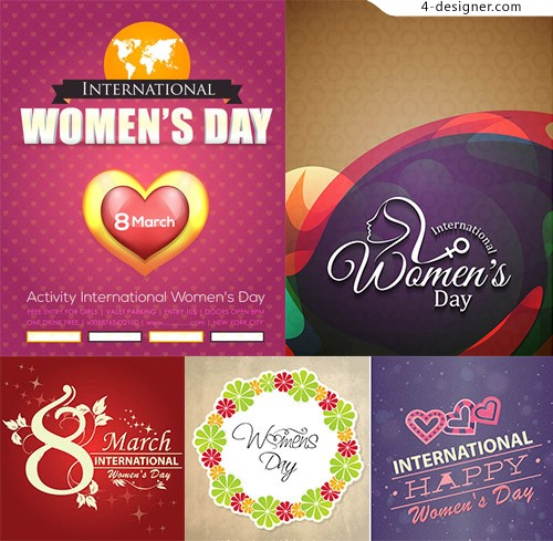 Theme vector for women s Day
