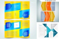 Three folding design template