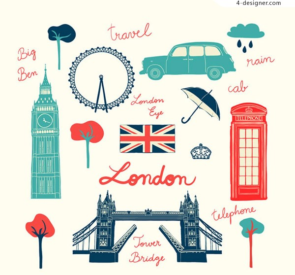 Travel elements in London England