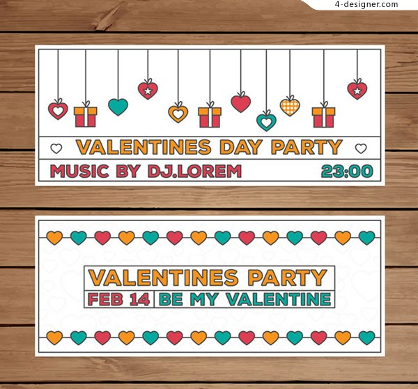 Valentine s Day Party Banner