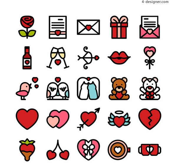 Valentine s Day icon vector