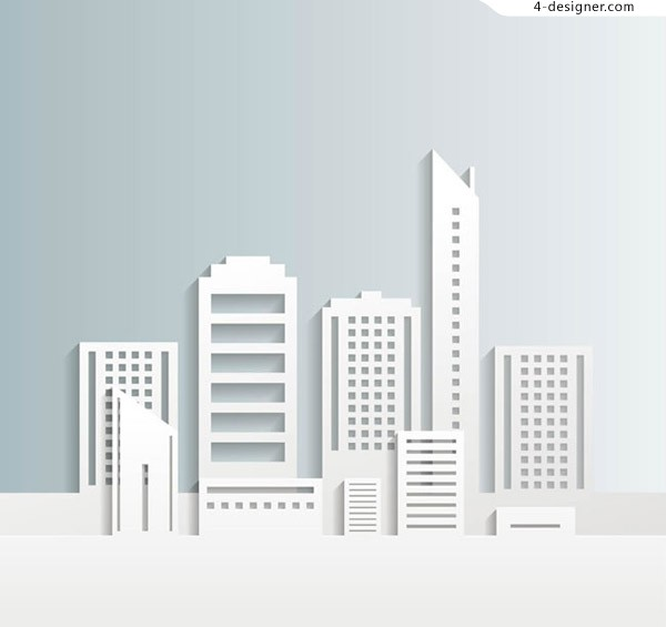 White building group vector