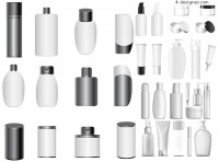 White cosmetic packaging