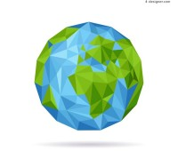 Abstract blue earth vector