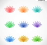 Abstract lotus design