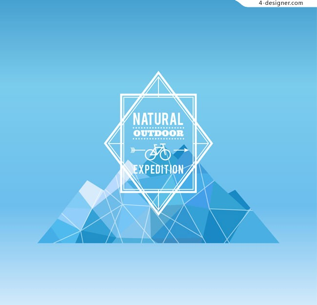 Abstract outdoor adventure Poster