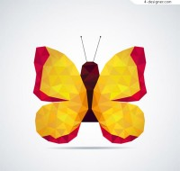 Abstract yellow butterfly