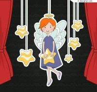 Angels and stars ornaments