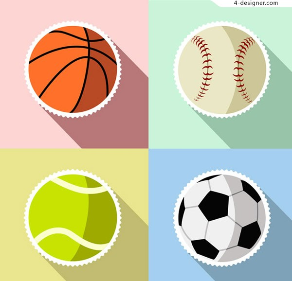 Ball sticker vector