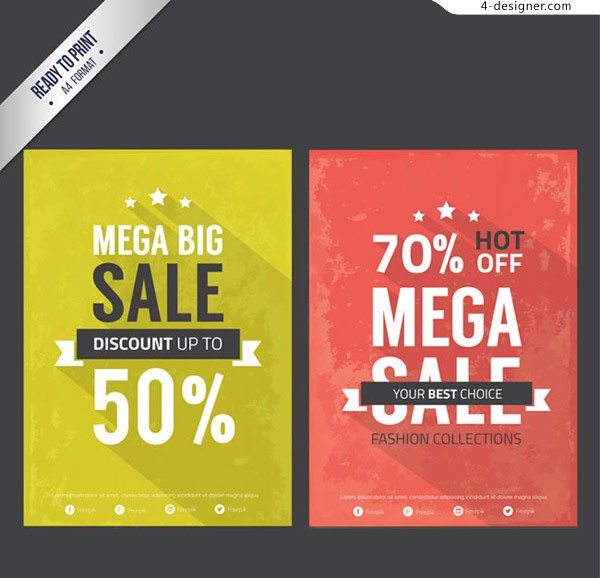 Big promotion poster vector