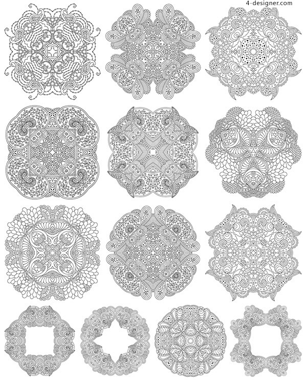 Black and white classical pattern