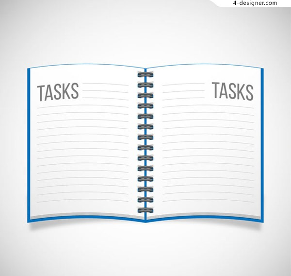 Blue Notepad vector