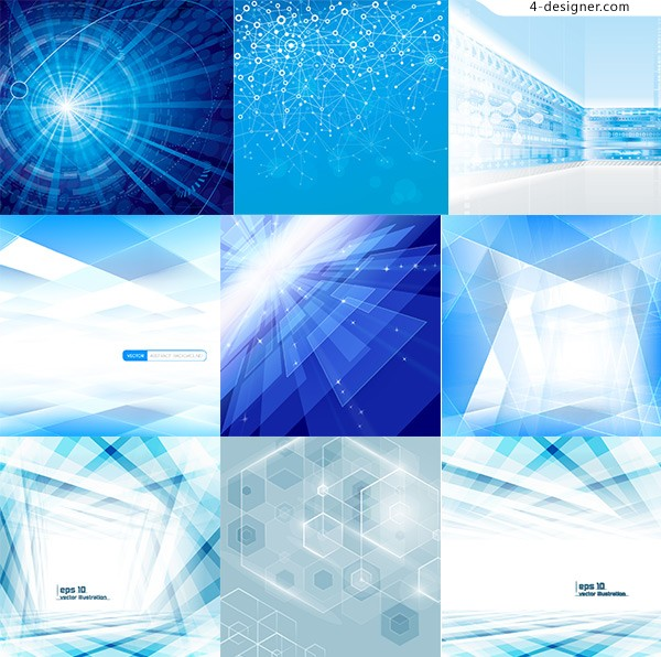 Blue background of science and technology