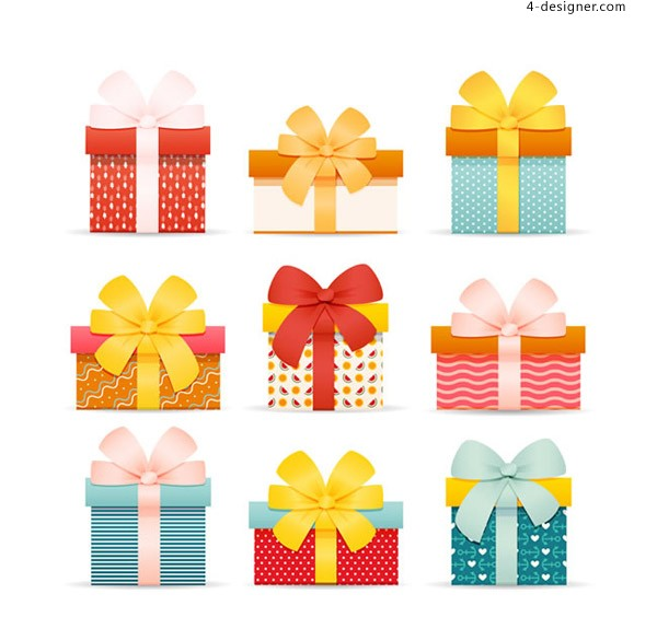 Bow knot gift vector