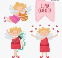 Cartoon blonde angel vector