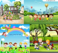 Cartoon illustration for children