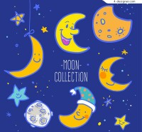 Cartoon moon vector