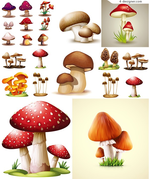 Cartoon mushroom vector