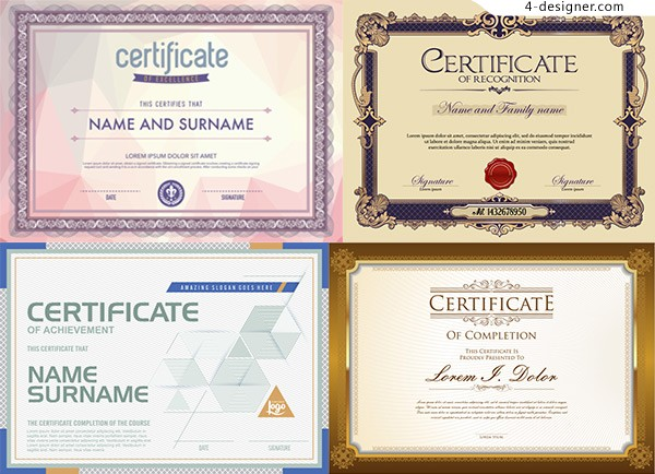 Certificate design vector