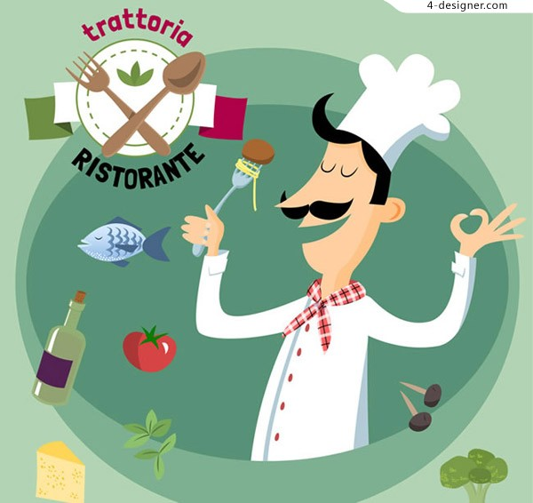 Chef of tasting dishes