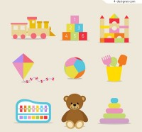 Children s toys icon vector