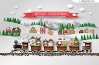 Christmas Train Clip Card