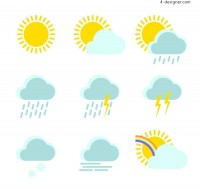 Clean weather icon