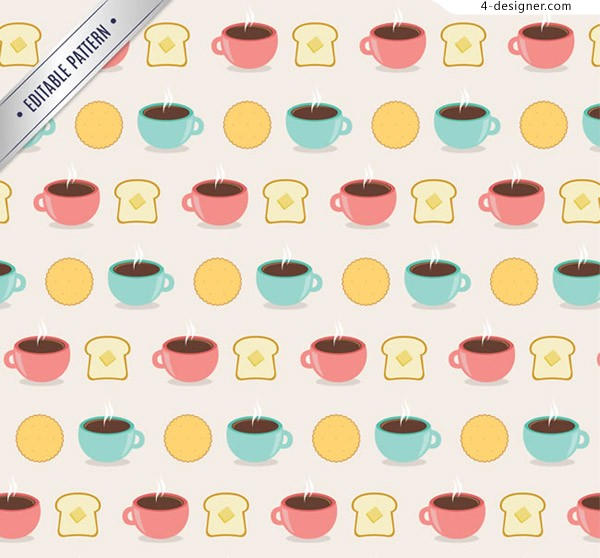 Coffee and bread background