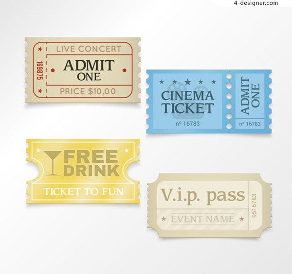 Color paper ticket