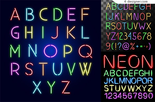 Colorful English letters