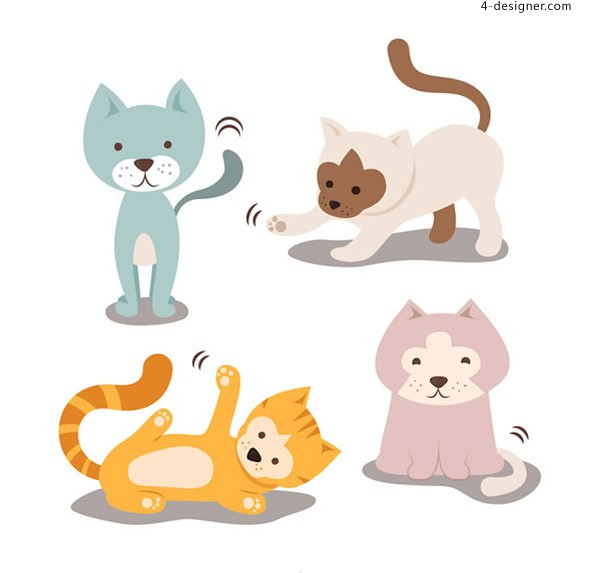Cute pet cat vector