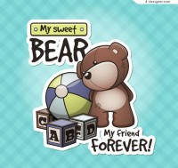 Cute toys and dolls bear