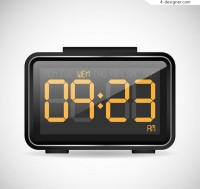 Design of black electronic clock