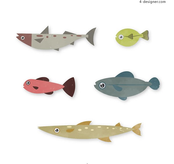Design vector of marine fish