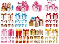 Gift box design vector