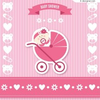 Greeting card for baby party