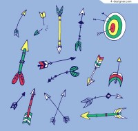 Hand painted arrows and targets