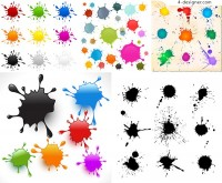 Ink splash vector vector