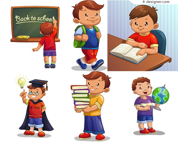 Learning cartoon children