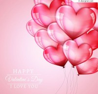Love balloon for Valentine s Day