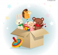 Lovely toy vector