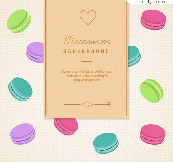 Macarons background color