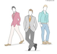 Men s fashion model vector